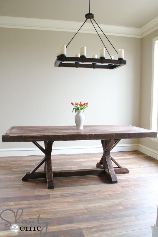 this shanty 2 chic restoration hardware inspired dining table post